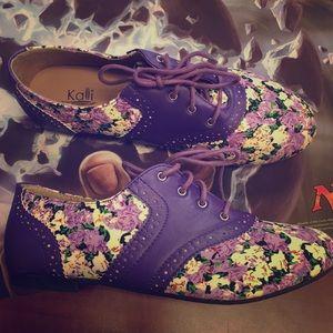 Purple flower shoes